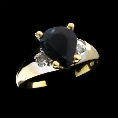 3044: APP: $1.5k 14 kt. Gold, 1.81CT Sapphire and Diamo