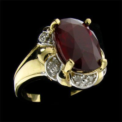 4194: APP: $125.1k 14 kt. Gold, 12.08CT Ruby and Diamon