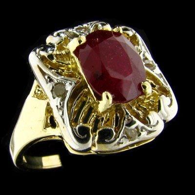 1490: RRV APP: $5.5k 14 kt. Gold-1.83CT Ruby & Diamond