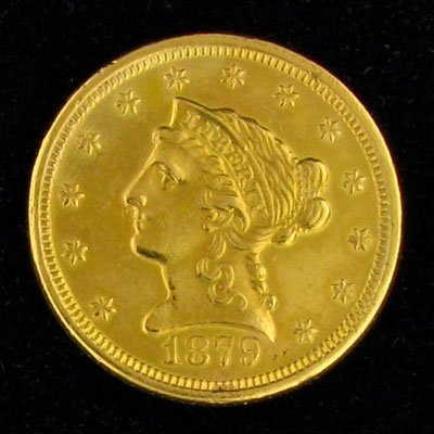 2017: 1879 $2.5 US Liberty Head Type Gold Coin