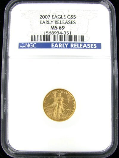 4517: 2007 $5 US Eagle Gold Coin - Potential Investment