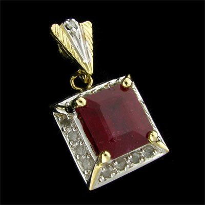 4538: RRV, APP: $53.4k 14 kt. Gold, 5.37CT Ruby and Dia