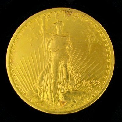 4819: 1922 $20 Saint-Gaudens Type Gold Coin - Investmen