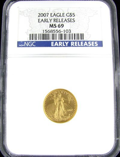 4843: 2007 $5 American Eagle Gold Coin - Investment Pot