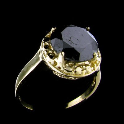 4847: RRV, APP: $4.8k 14 kt. Gold, 2.94CT Rare Black Di