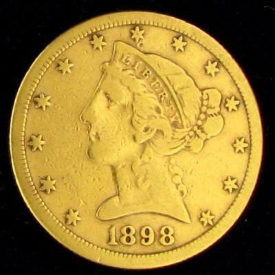 21: 1898-S $5 US Liberty Head Type Gold Coin - Investme