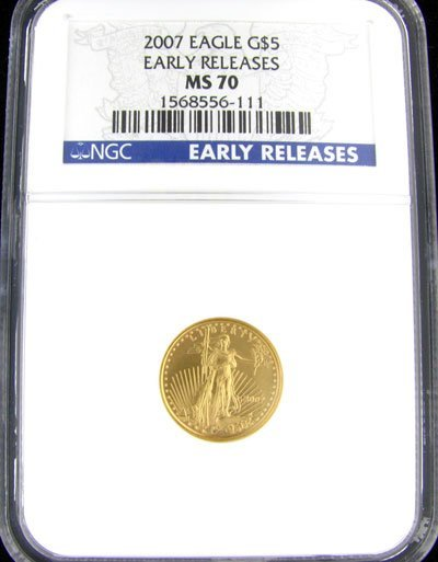 33: 2007 $5 American Eagle Gold Coin - Investment Poten