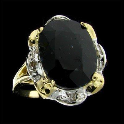 216: RRV APP: 11.3k 14 kt. Gold, 6.50CT Sapphire Ring