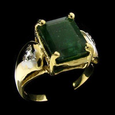 234: RRV APP: 12.7k 14 kt. Gold, 4.15CT Emerald Ring
