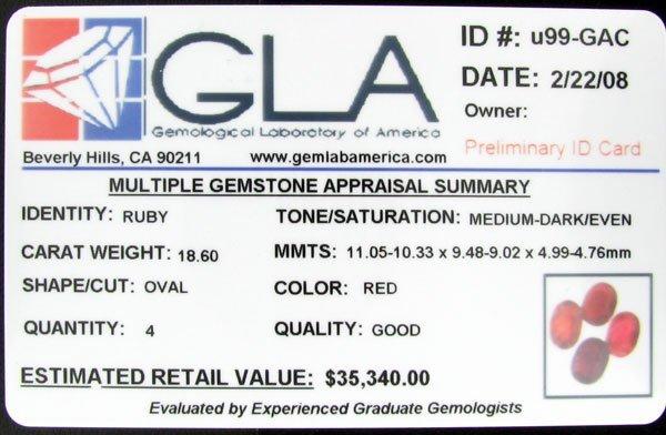 250: RRV APP: 35.3k 18.60CT Oval Ruby Parcel Gems - 2