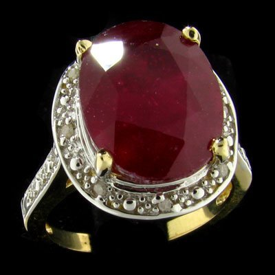 6006: RRV APP: 60.7k 14 kt. Gold, 8.39CT Ruby and Diamo
