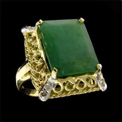 6012: RRV APP: 17.1k 14 kt. Gold, 8.17CT Emerald and Di