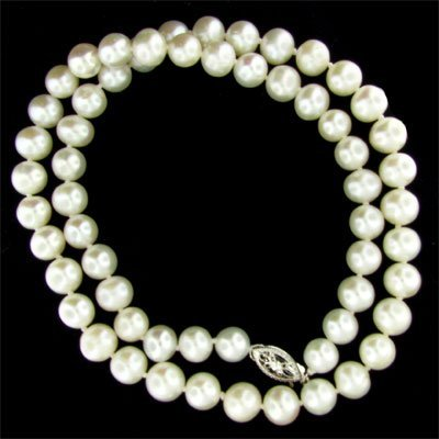 "6007: 17"" Pearl Necklace-Long Strand-Gorgeous!"