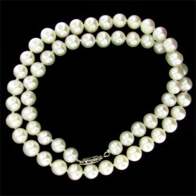 "6017: 17"" Pearl Necklace-Long Strand-Gorgeous!"