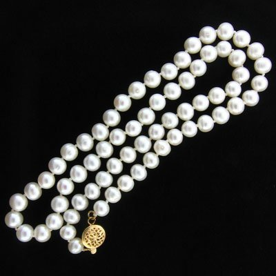 6023: 14 kt. Gold, Pearl Necklace-Great Gift Idea!