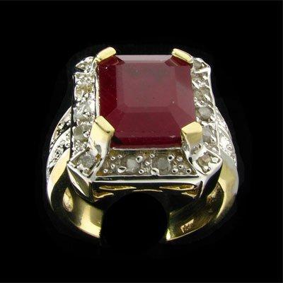 1508: RRV APP:$40.5k 14 kt. Gold, 6.68CT Ruby & Diamond