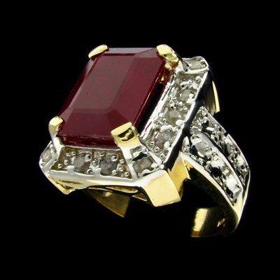 1514: RRV APP:$57.7k 14 kt. Gold, 6.52CT Ruby & Diamond