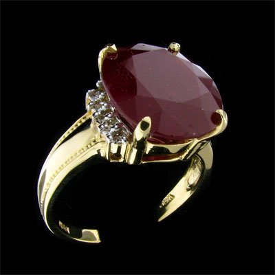1734: RRV APP: 27.8k 14 kt. Gold, 15.10CT Ruby and Diam
