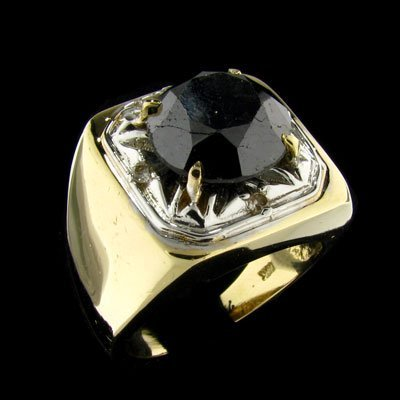1738: RRV APP: 20k 14 kt. Gold, 7.60CT Rare Black Diamo