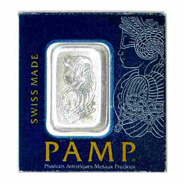 Extremely Rare 1 Gram PAMP Swiss Platinum Bar - Great