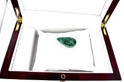 APP 11k 6000CT Pear Cut Green Beryl Emerald Gemstone