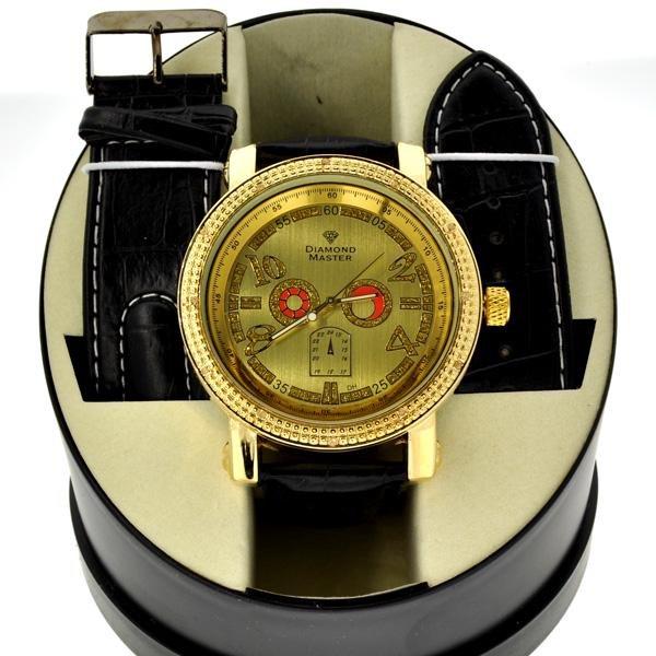 Men's Diamond Maxx Designer Watch With Diamond On Case