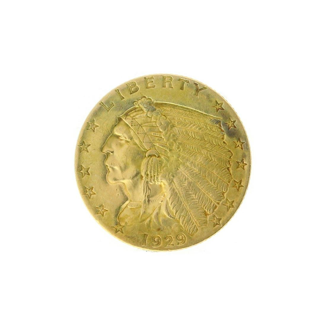 Rare 1929 $2.50 Indian Head Gold Coin Great Investment