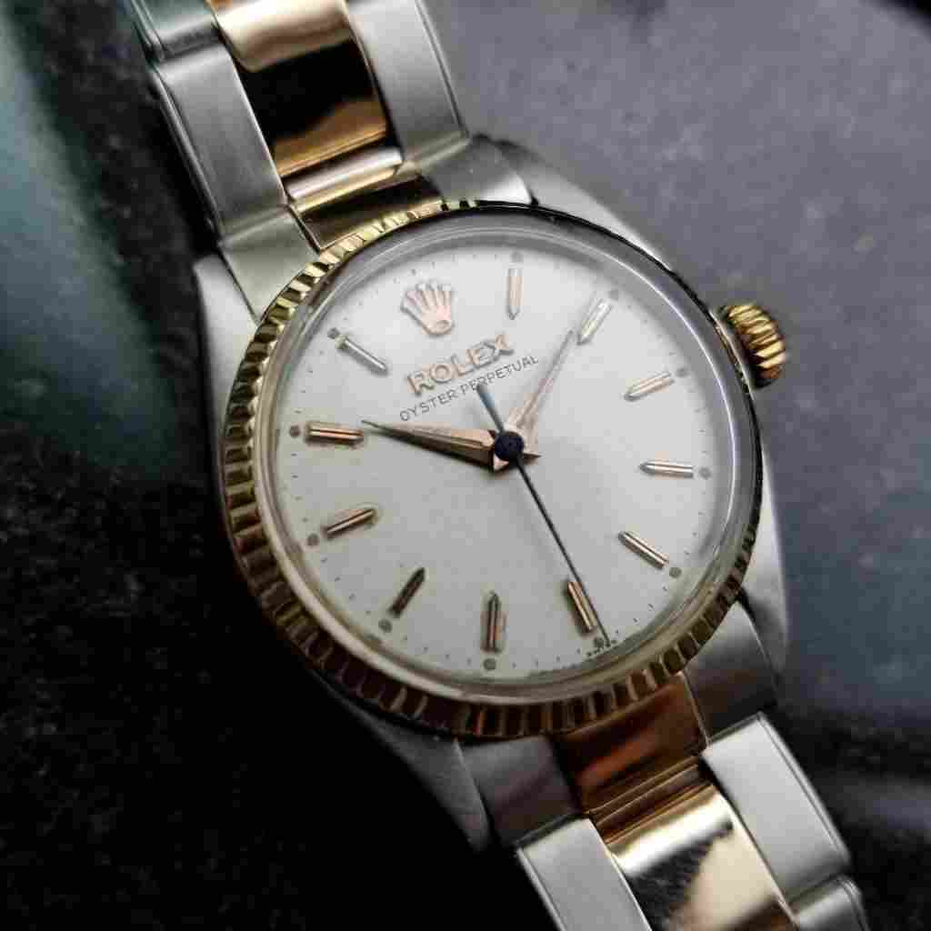 *Rolex Vintage 1952 Oyster Perpetual 14k Rose Gold SS