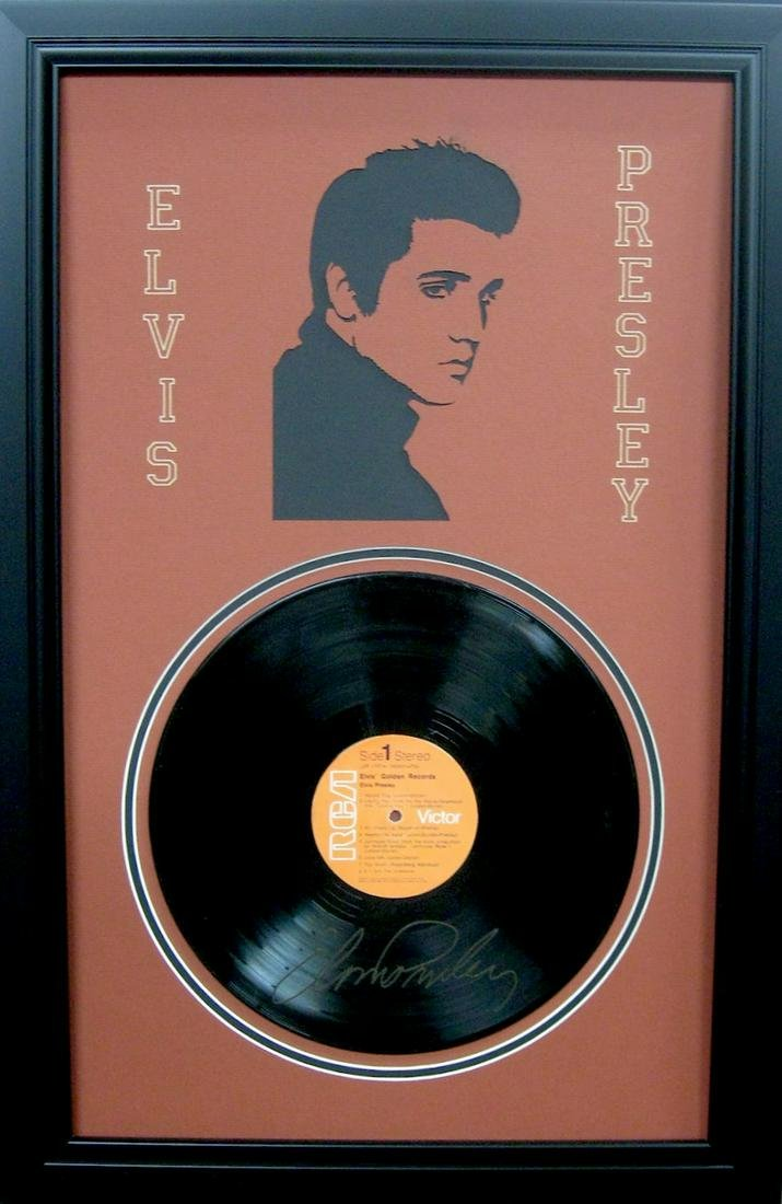 *Rare Elvis Presley Vinyl Record and Laser Cut Mat