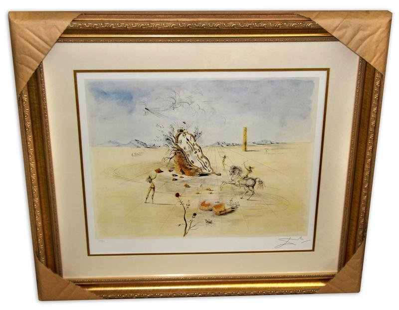 Salvador Dali (After) 'Cosmic Horseman' Museum Framed &