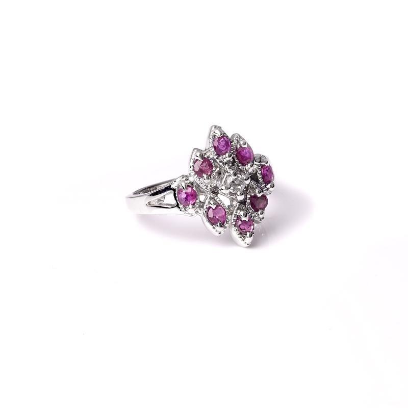 APP: 1k Fine Jewelry 0.80CT Round Cut Ruby And Topaz
