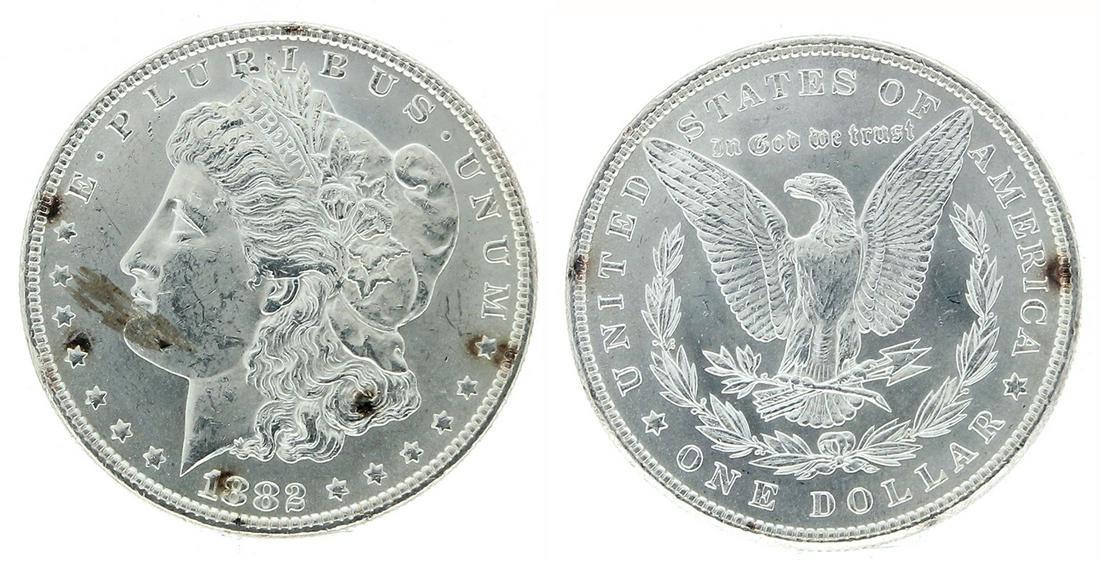 Rare 1882 U.S. Morgan Silver Dollar Coin - Great