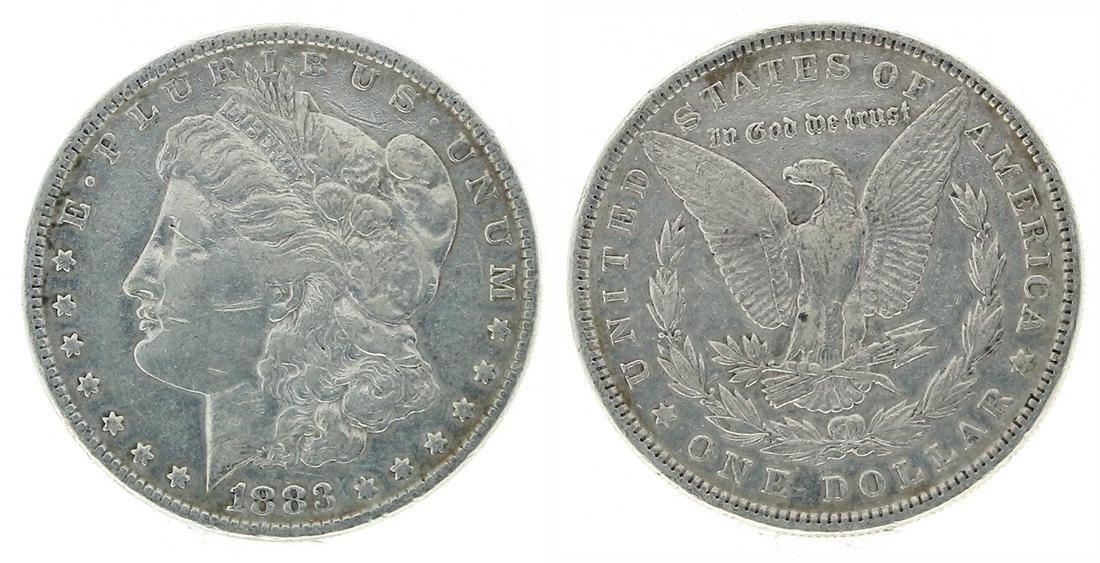 Rare 1883 U.S. Morgan Silver Dollar Coin - Great