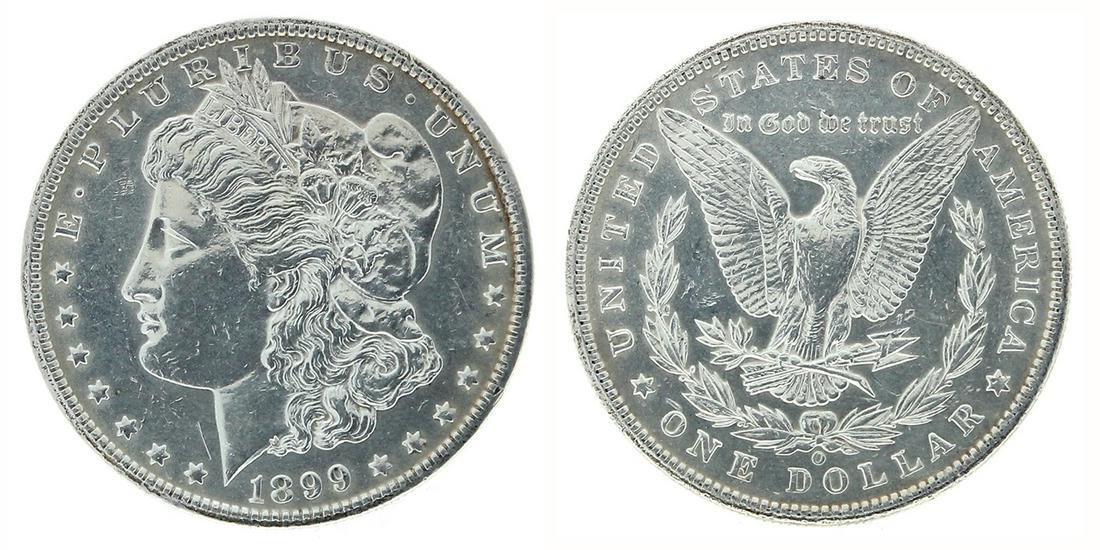 Rare 1899-O U.S. Morgan Silver Dollar Coin - Great