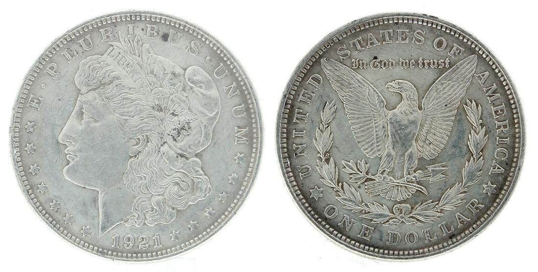 Rare 1921 U.S. Morgan Silver Dollar Coin - Great