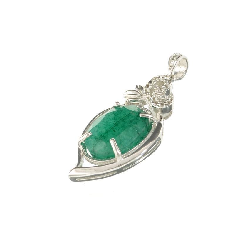APP: 0.6k Fine Jewelry 10.00CT Oval Cut Green