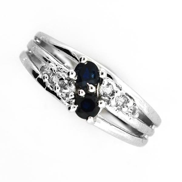 Designer Sebastian 0.36CT Round Cut Blue Sapphire And