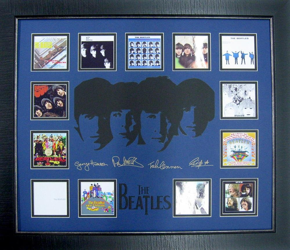 *Rare The Beatles Album Covers Museum Framed Collage -