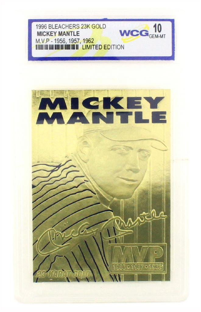 Rare Mickey Mantle 23kt. Gold Anniversary Card Grated