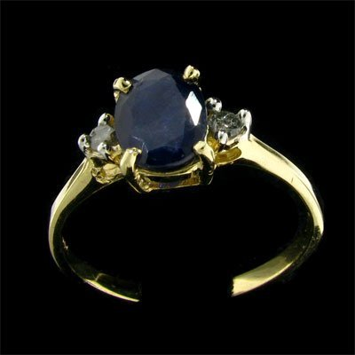 2: APP: 1.1k 14 kt. Gold, 1.29CT Sapphire and Diamond R