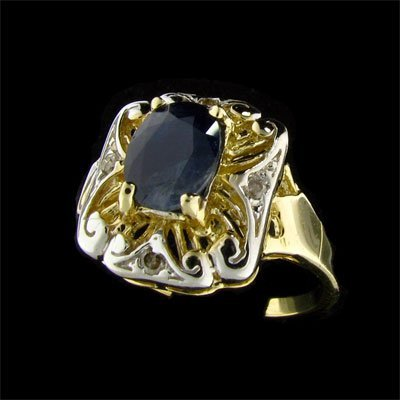 26: APP: 1.6k 14 kt. Gold, 1.61CT Sapphire and Diamond