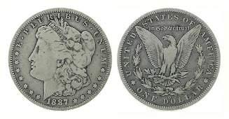 Rare 1887-O U.S. Morgan Silver Dollar Coin - Great