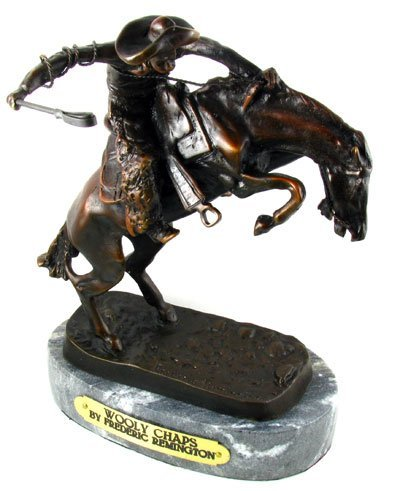 806: Frederic Remington Bronze Reproduction - Wooly Cha