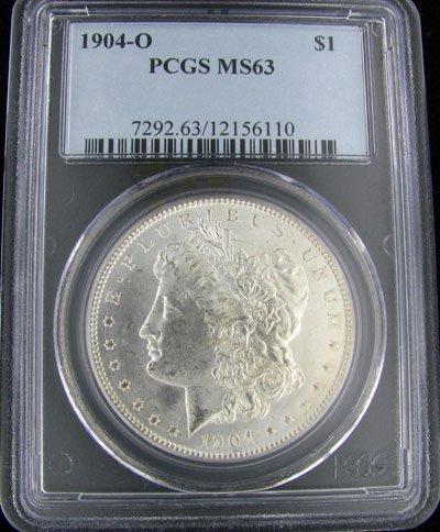 824: 1904-O U.S. Morgan Silver Dollar Coin-Investment P