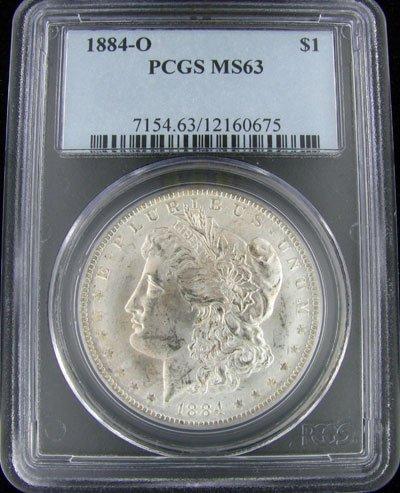836: 1884-O U.S. Morgan Silver Dollar Coin-Investment P