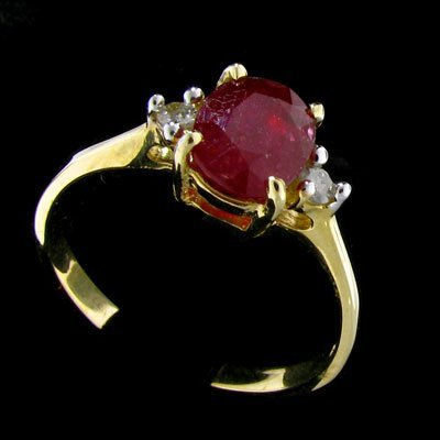 1804: 14 kt. Gold, Ruby and Diamond Ring