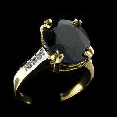 1812: APP: 5.4k 14 kt. Gold, 4.97CT Sapphire and Diamon