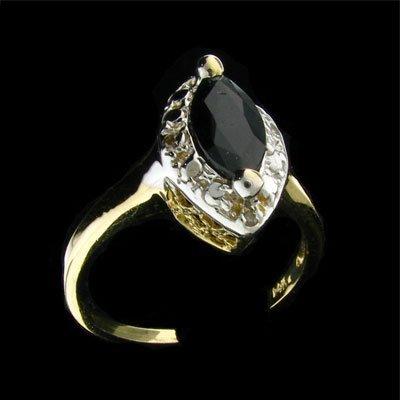 1838: APP: 1.7k 14 kt. Gold, 0.92CT Sapphire and Diamon