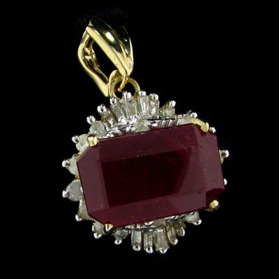 2736: APP: 23.3k 14 kt. Gold, 10.10CT Ruby and Diamond