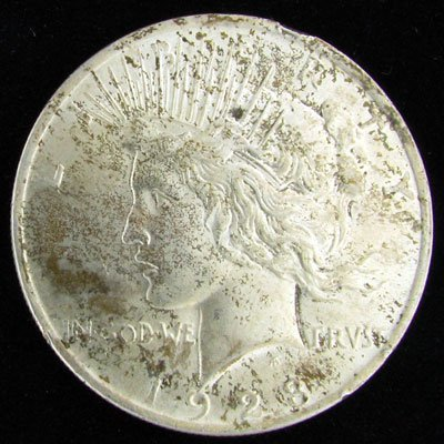 5: 1923 U.S. Peace Silver Dollar Coin-Investment Potent